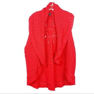 New Directions Red Knit Sweater Size 3X